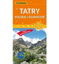 Wanderkarten Compass Mapa Turystyczna Polen - Tatry Polskie i Slowackie 1:50.000 laminiert Compass
