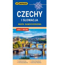 Compass Mapa samochodowa Tschechien / Slowakei - Czechy i Slowacja / Tschechien und Slowakei 1:500.000 Compass