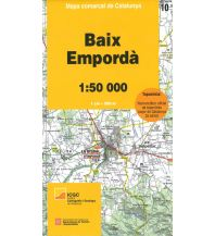 Wanderkarten Spanien Mapa comarcal de Catalunya 10, Baixa Empordà 1:50.000 Institut Cartogràfic i Geològic de Catalunya