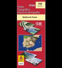 Wanderkarten Spanien CNIG-Karte MTN50 110, Medina de Pomar 1:50.000 Direccion General del Instituto Geografico Nacional