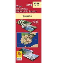 Wanderkarten Spanien CNIG-Karte MTN50, 1026, Granada Sur/Süd 1:50.000 Direccion General del Instituto Geografico Nacional