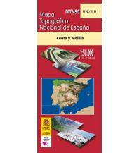 Wanderkarten Spanien CNIG-Karte MTN50 1110/1111, Ceuta y Melilla 1:50.000 Direccion General del Instituto Geografico Nacional