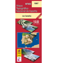 Wanderkarten Spanien CNIG-Karte MTN50 1087, Los Canarios - La Palma 1:50.000 Direccion General del Instituto Geografico Nacional