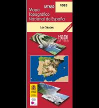 Wanderkarten Spanien CNIG-Karte MTN50 1083, Los Sauces - La Palma 1:50.000 Direccion General del Instituto Geografico Nacional