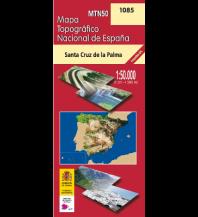 Wanderkarten Spanien CNIG-Karte MTN50 1085, Santa Cruz de La Palma 1:50.000 Direccion General del Instituto Geografico Nacional