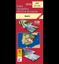Wanderkarten Spanien CNIG-Karte MTN50 559, Madrid 1:50.000 Direccion General del Instituto Geografico Nacional