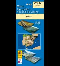 Wanderkarten Spanien CNIG MTN25 798-4 Spanien - Eivissa 1:25.000 Direccion General del Instituto Geografico Nacional