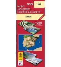 Wanderkarten Spanien CNIG-Karte MTN50, 1082, Arrefice (Lanzarote) 1:50.000 Direccion General del Instituto Geografico Nacional