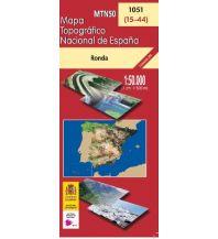 Wanderkarten Spanien CNIG-Karte MTN50 1051, Ronda 1:50.000 Direccion General del Instituto Geografico Nacional