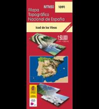 Wanderkarten Spanien CNIG-Karte MTN50 1091, Icod de Los Vinos - Teneriffa 1:50.000 Direccion General del Instituto Geografico Nacional
