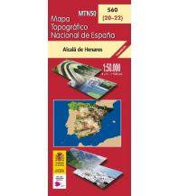 Wanderkarten Spanien CNIG-Karte MTN50 560, Alcalá de Henares 1:50.000 Direccion General del Instituto Geografico Nacional