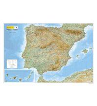 Reliefkarten CNIG Reliefkarte Península Ibérica/Iberische Halbinsel 1:1.250.000 Direccion General del Instituto Geografico Nacional