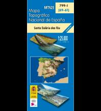 Wanderkarten Spanien CNIG MTN25 799-1 Spanien - Santa Eularia des Riu 1:25.000 Direccion General del Instituto Geografico Nacional