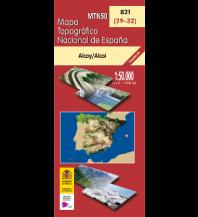 Wanderkarten Spanien CNIG-Karte MTN50 821, Alcoy/Alcoi 1:50.000 Direccion General del Instituto Geografico Nacional