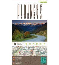 Straßenkarten Editorial Alpina Übersichtskarte Pyrenäen - Pirineos-Pirineus-Pyrenees-Pyrenäen 1:350.000 Editorial Alpina