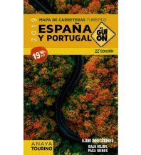 Straßenkarten Spanien Anaya mapa de carreteras turístico España/Spanien y Portugal 1:340.000 Anaya-Touring