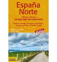 Straßenkarten Spanien Anaya Straßenkarte Spanien - Espana Norte 1:340.000 Anaya-Touring