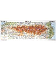 Reliefkarten Mapa en relieve Pirineos/Pyrenäen 1:800.000 Mapiberia f&b