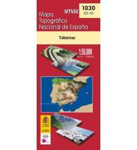 Wanderkarten Spanien CNIG-Karte MTN50 1030, Tabernas 1:50.000 Direccion General del Instituto Geografico Nacional