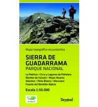 Wanderkarten Spanien Sierra de Guadarrama Parque Nacional 1:50.000 Ediciones Desnivel