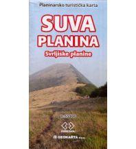 Wanderkarten Serbien & Montenegro Geokarta Wanderkarte Suva Planina National Park 1:55.000 Geokarta d.o.o.