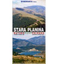 Wanderkarten Serbien & Montenegro Geokarta Wanderkarte Stara Planina/Balkangebirge Nature Park Prirode 1:50.000 Geokarta d.o.o.