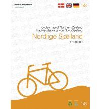 Radkarten Nordisk Radwanderkarte 1/8, Nordlige Sjælland 1:100.000 Nordisk Korthandel