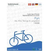 Radkarten Nordisk Radwanderkarte 3/8, Fyn/Fünen & Øerne 1:100.000 Nordisk Korthandel
