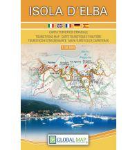 Straßenkarten Italien LAC Carta turistico-stradale Isola d'Elba 1:30.000 Global Map