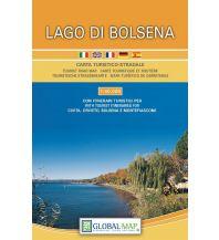 Straßenkarten Italien LAC Carta turistico-stradale Lago di Bolsena 1:40.000 Global Map