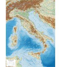 Geografie Global Map Reliefkarte Italien - Italia / Italien 1:1.600.000 Global Map