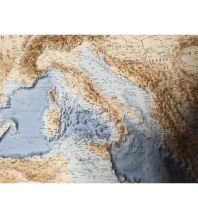 Geografie Global Map Reliefkarte ohne Rahmen - Mediterranien Sea / Mittelmeer 1:4.400.000 Global Map