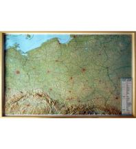 Reliefkarten Global Map Reliefkarte mit Rahmen Polonia / Polen 1:800.000 Global Map