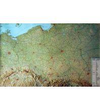 Europa Global Map Relief ohne Rahmen Polonia / Polen 1:800.000 Global Map