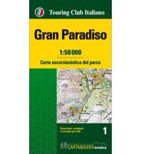 Wanderkarten Italien TCI Carta escursionistica Gran Paradiso 1:50.000 Touring Club Italiono