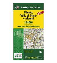 Wanderkarten Apennin TCI carta escursionistica del parco, Cilento, Vallo di Diano e Alburni 1:50.000 Touring Club Italiono