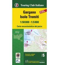 Wanderkarten Apennin TCI carta escursionistica del parco, Gargano, Isole Tremiti 1:50.000 Touring Club Italiono