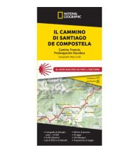 Weitwandern National Geographic Kartenheft Il Cammino di Santiago de Compostela 1:50.000 Trails Illustrated