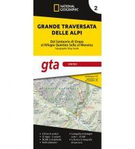 NG Kartenheft Grande Traversata delle Alpi (GTA), Teil 2 - Mitte 1:25.000 Trails Illustrated
