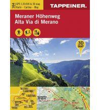 Weitwandern Tappeiner-3D-Wanderkarte 164, Meraner Höhenweg 1:30.000 Tappeiner Karten
