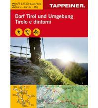 Wanderkarten Wanderkarte Dorf Tirol und Umgebung Tappeiner Karten