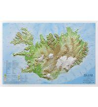 Reliefkarten Global Map Reliefkarte ohne Rahmen Island 1:1.000.000 Global Map