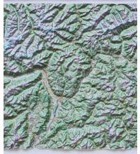 Reliefkarten Global Map Reliefkarte ohne Rahmen Provinz Bozen / Südtirol 1:200.000 Global Map
