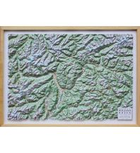 Reliefkarten Global Map Reliefkarte mit Rahmen Provinz Bozen / Südtirol 1:200.000 Global Map