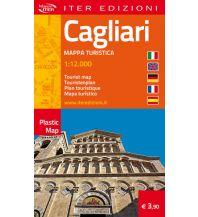 Stadtpläne Iter Plastic Map Italien - Cagliari 1:12.000 Edizioni Iter