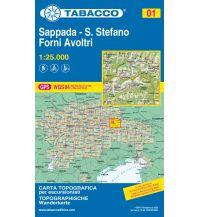 Skitourenkarten Tabacco-Karte 01, Sappada, Santo Stefano, Forni Avoltri 1:25.000 Casa Editrice Tabacco