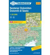Skitourenkarten Tabacco-Karte 010, Sextener Dolomiten/Dolomiti di Sesto 1:25.000 Casa Editrice Tabacco