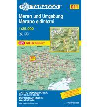 Skitourenkarten Tabacco-Karte 011, Meran und Umgebung/Merano e dintori 1:25.000 Casa Editrice Tabacco