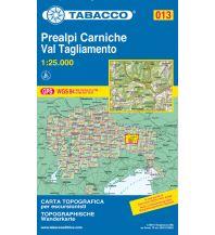 Wanderkarten Italien Tabacco-Karte 013, Prealpi Carniche/Karnische Voralpen, Val Tagliamento 1:25.000 Casa Editrice Tabacco