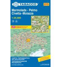 Skitourenkarten Tabacco-Karte 015, Marmolada, Pelmo, Civetta, Moiazza 1:25.000 Casa Editrice Tabacco